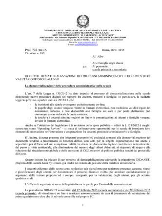 Dematerializzazione Dei Processi Amministrativi e Documento di