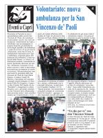 Volontariato: nuova ambulanza per la San Vincenzo de