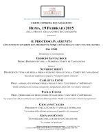 ROMA, 19 F - Corte di Cassazione