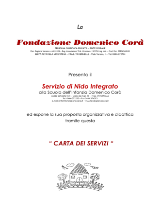 Carta dei Servizi A.S.2014-2015 (NIDO)