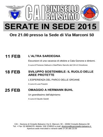 11-2-2015 - CAI Cinisello Balsamo