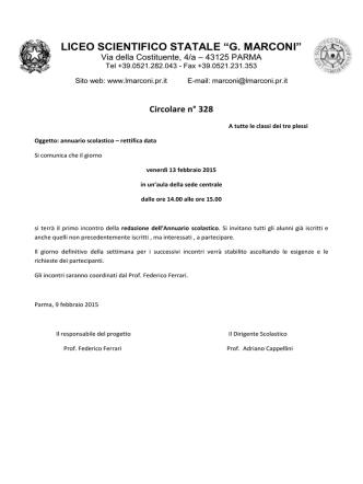 Annuario scolastico - Liceo Scientifico Guglielmo Marconi