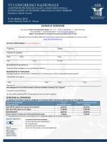 Scheda di iscrizione - Associazione Italiana Riprotesizzazione