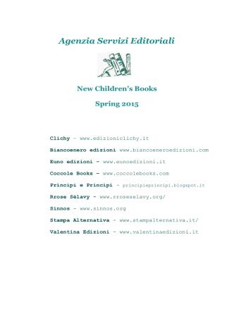 Agenzia Servizi Editoriali New Children`s Books Spring 2015