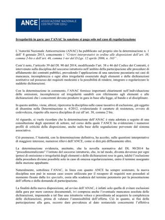 Commento Ance Det. 1-2015 - Associazione degli Industriali