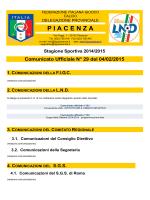Comunicato n.29