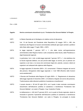 Decreto del Presidente del 5 febbraio 2015, n.7. [file]