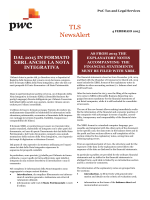 TLS Tax NewsAlert (4 febbraio 2015)