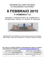 8 febbraio 2015 5° domenica to