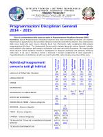 Programmazioni Disciplinari Generali 2014