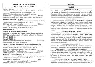 Bollettino - Arcidiaconato del Cadore