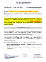 """"""" certificazione unica (cu)""""2015"""