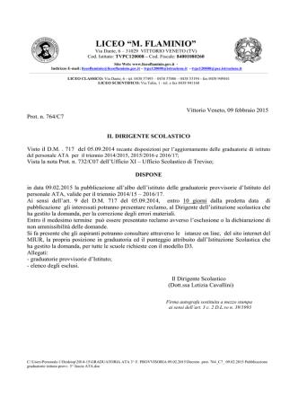 Decreto prot. 764_C7_ 09.02.2015 Pubblicazione