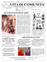 VITA DI COMUNITA` - Parrocchia S. Maria Goretti
