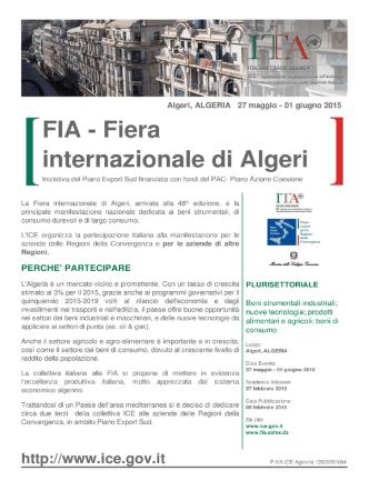 Brochure FIA