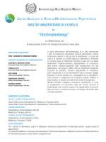 Master in Oral Implantology - Università degli Studi Guglielmo Marconi