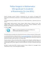 GuidaRoLStudenti - Politecnico di Bari