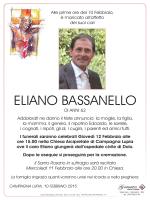 Bassanello Eliano Giovedì 12 Febbraio 2015 ore 15.00