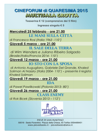 Cinema Grotta - Pieve di San Martino