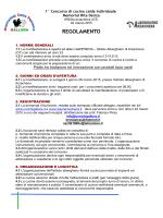 Regolamento concorso Memorial Rita Denza