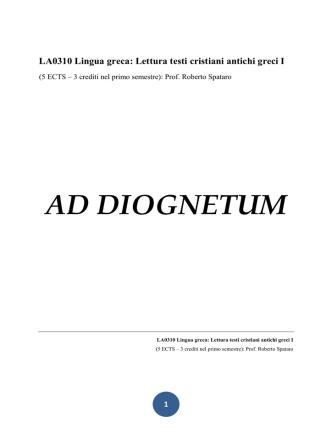 AD DIOGNETUM
