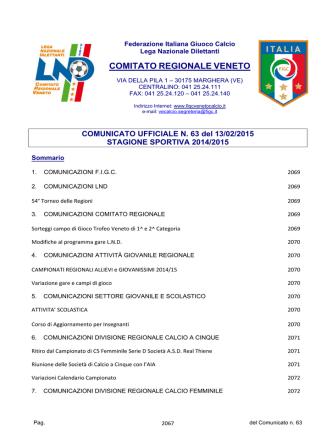 Com_N63 - F.I.G.C. Veneto