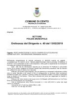 Integrazione all`ordinanza relativa alla sosta di