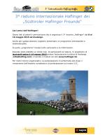 "3° raduno internazionale Haflinger dei ""Südtiroler Haflinger Freunde"""