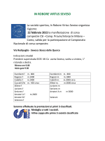 22 febbraio Seveso corsa campestre programma - Atletica
