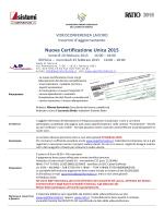 Nuova Certificazione Unica 2015