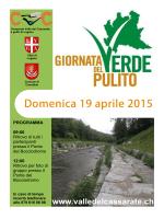 Volantino Verde pulito 15 - Consorzio Valle del Cassarate
