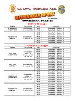 Programma partite 2015