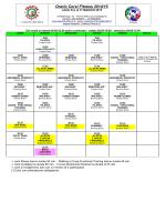 Orario Corsi Fitness 2014/15