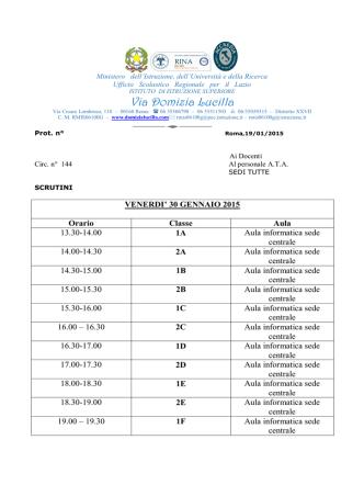 circ 144 SCRUTINI - Istituto di Istruzione Superiore Domizia Lucilla