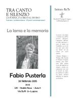 Fabio Pusterla - Facoltà di Teologia di Lugano
