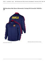 N98 Barcellona Nike Giacca Allenamento Training 2015 Uomo Blu