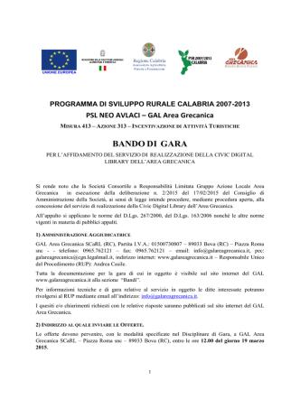 Bando Gara Civic Digital Library (16.02.2015)