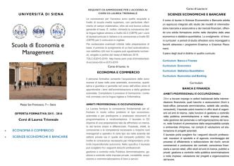 Brochure informativa - Scuola di Economia e Management