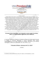 Tribunale di Milano del 15.1.2015