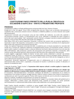 costituzione parco progetti della puglia creativa in