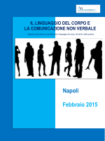 Napoli Febbraio 2015 IL LINGUAGGIO DEL
