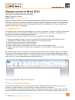 Stampa unione in Word 2010