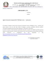 """circolare n. 271 - I.S.I.S. """"Giulio Natta"""""""