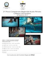 2^ prova campionato regionale toscana 22 febbraio 2015