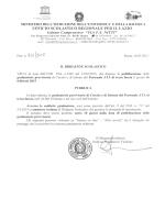 Decreto pubblicazione