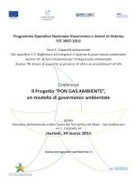 Programma - Ministero dell`Ambiente