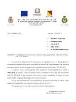 Circ. 219 graduatorie d`istituto a.s.2014-2015