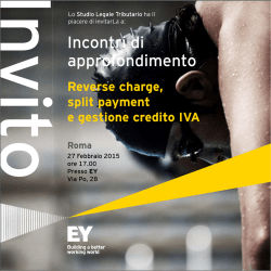 Reverse charge, split payment e gestione credito IVA