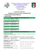 Comunicato Ufficiale n. 36 del 16 Febbraio 2015