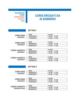 calendario. - IS Sobrero